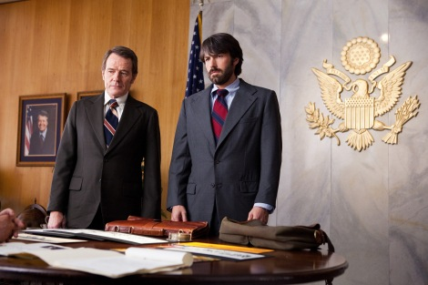 Ben Affleck, right, and Bryan Cranston star in Argo.