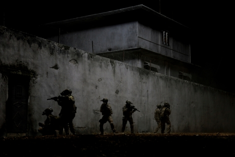 In the darkest hour of the night, elite Navy SEALs raid Osama bin Laden's compound in Zero Dark Thirty.