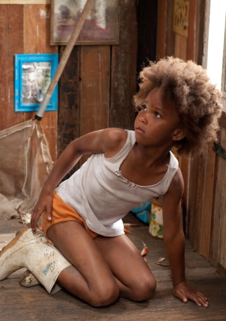 Quvenzhané Wallis stars as Hushpuppy, a strong-willed child who lives with her father in the bayou, in Beasts of the Southern Wild.