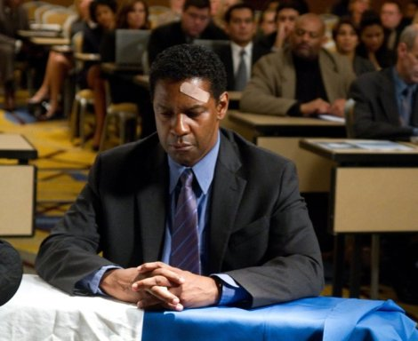 Denzel Washington plays a pilot with a substance-abuse problem in Flight.