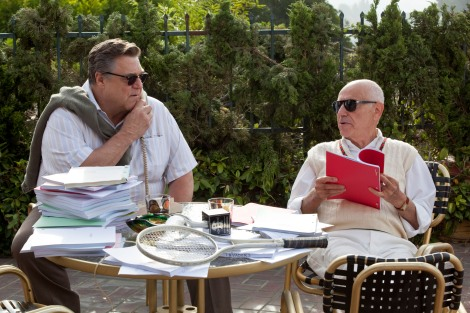 John Goodman, left, and Alan Arkin play Hollywood insiders who collaborate with the CIA in Argo.