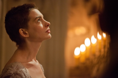 Anne Hathaway as Fantine in Les Misérables.