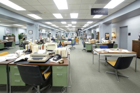 The basement of the historic Los Angeles Times building in downtown L.A. became the CIA bullpen in Argo.