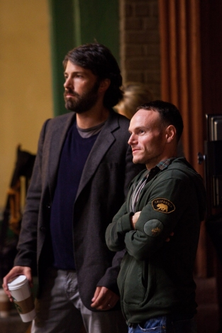 Ben Affleck, left, with Argo screenwriter Chris Terrio.