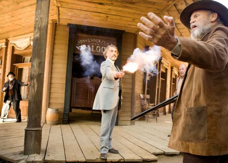 Christoph Waltz plays a dentist-cum-bounty hunter in Django Unchained.