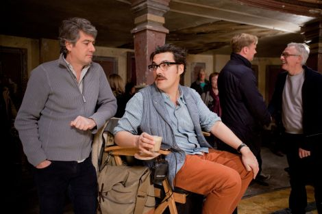 Composer Dario Marianelli, left, with director Joe Wright.