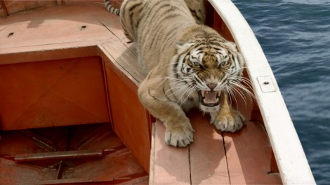 Richard Parker, the Bengal (and digital) tiger with whom Pi shares his lifeboat.