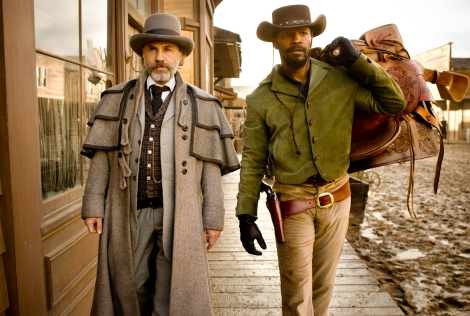 Christoph Waltz, left, is nominated for Django Unchained. He was thrown from a horse during production.