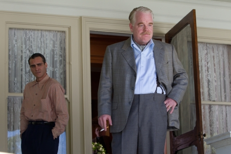 Philip Seymour Hoffman plays the charismatic leader of a cult in The Master.