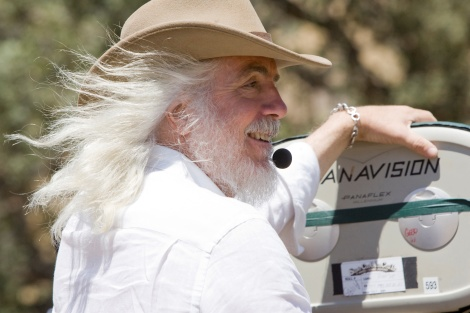 Robert Richardson on the set of Django Unchained.