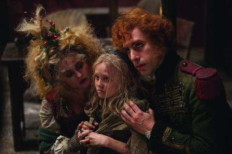 Sacha Baron Cohen plays innkeeper Thenardier in Les Misérables.
