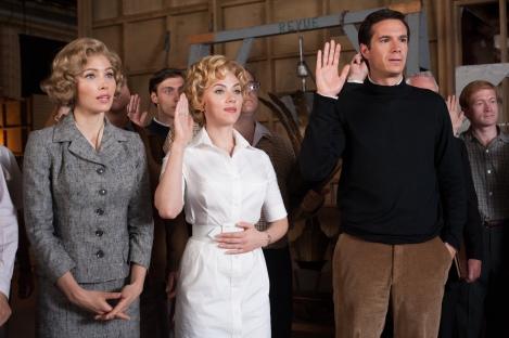 Scarlett Johansson plays Tippi Hedren in Hitchcock.