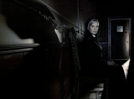 AMERICAN HORROR STORY: ASYLUM -- Pictured: Jessica Lange as Sister Jude -- CR: Frank Ockenfels/FX