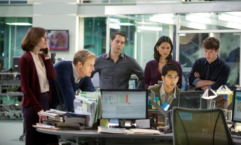 Aaron Sorkin's The Newsroom earned Globes attention in its first season of eligibility.