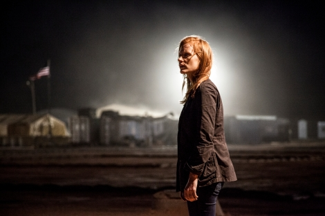 Jessica Chastain stars as a relentless CIA agent pursuing bin Laden in Zero Dark Thirty.