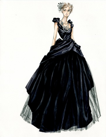 The costume designer incorporated 19th- and 20th-century elements to create the look for Anna.