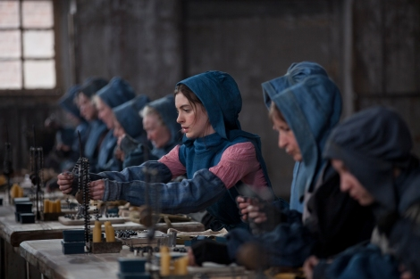 Anne Hathaway is the doomed Fantine in Les Misérables.