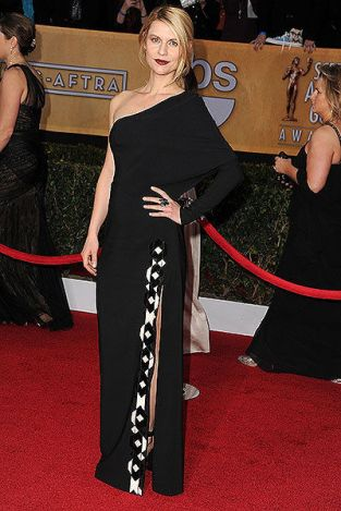 The dress that Claire Danes wore to the 2013 SAG Awards was from Givenchy's pre-fall collection. It debuted on the red carpet, instead of during Fashion Week.