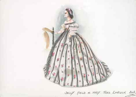 The design for this dress was based on two separate dresses found during research.