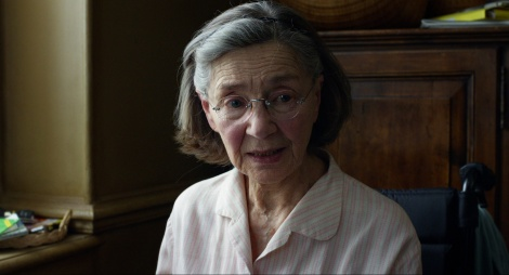 Emmanuelle Riva plays a stroke victim in Amour.