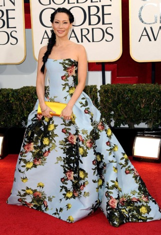 Love it or hate it, Lucy Liu made a statement at this year's Golden Globe Awards.