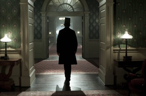 """LINCOLN""  L-000786  Abraham Lincoln (Daniel Day-Lewis) walks through the corridors of the White House in this scene from director Steven Spielberg's drama ""Lincoln"" from DreamWorks Pictures and Twentieth Century Fox.  Ph: David James  © 2012 DreamWorks II Distribution Co., LLC and Twentieth Century Fox Film Corporation.  All Rights Reserved."