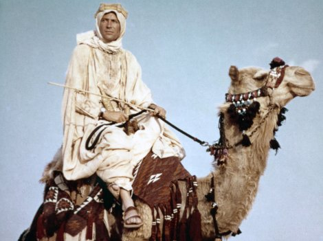 Peter O'Toole in Lawrence of Arabia.