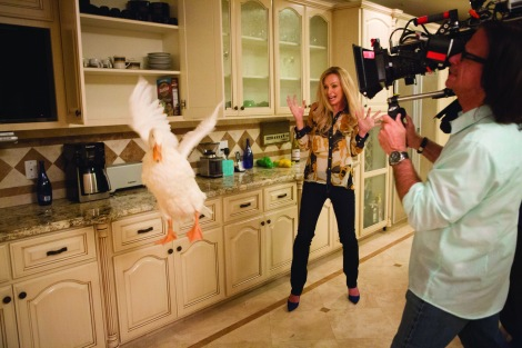 Portia de Rossi on the set of the newly resurrected comedy Arrested Development.