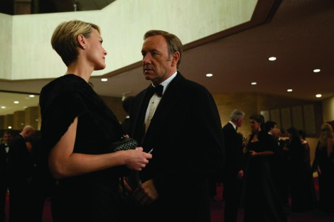 Robin Wright and Kevin Spacey play a scheming couple in House of Cards.
