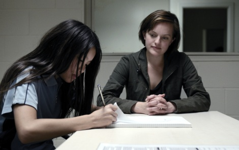 Elisabeth Moss, right, stars in Sundance Channel's Top of the Lake
